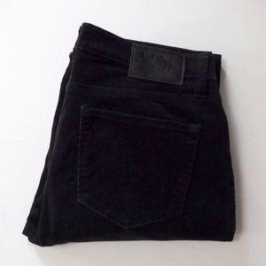 Ralph Lauren Black Corduroy Pants Size 8 Petite
